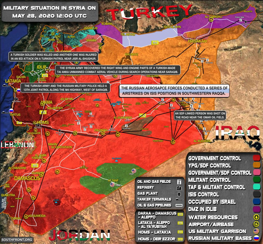 Military Situation In Syria On May 28, 2020 (Map Update)