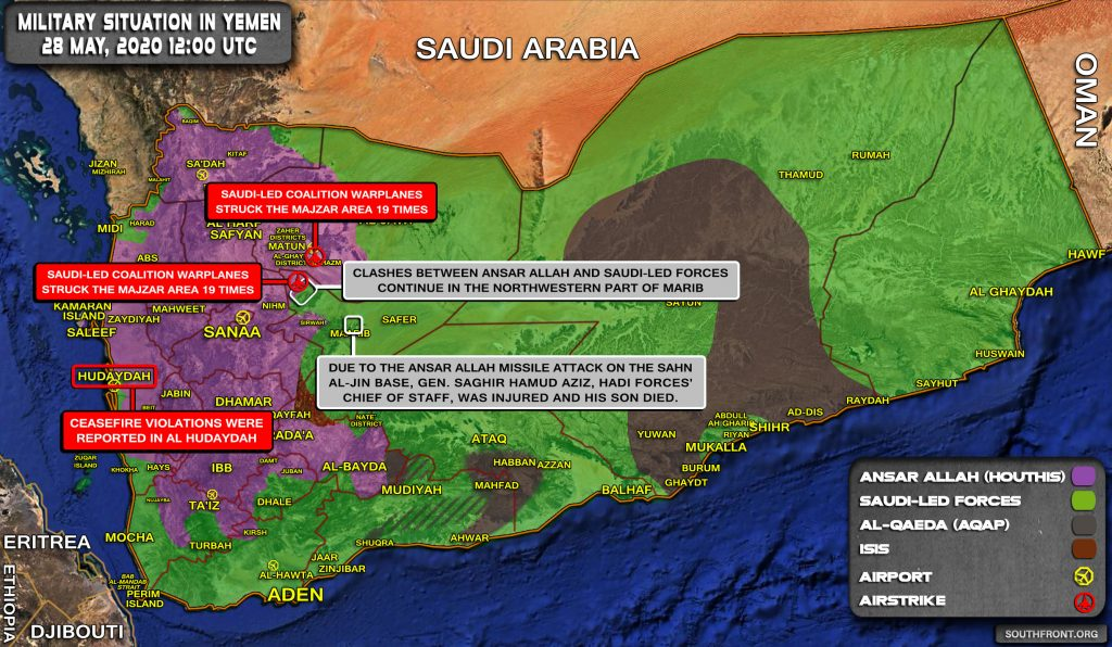 Military Situation In Yemen On May 28, 2020 (Map Update)