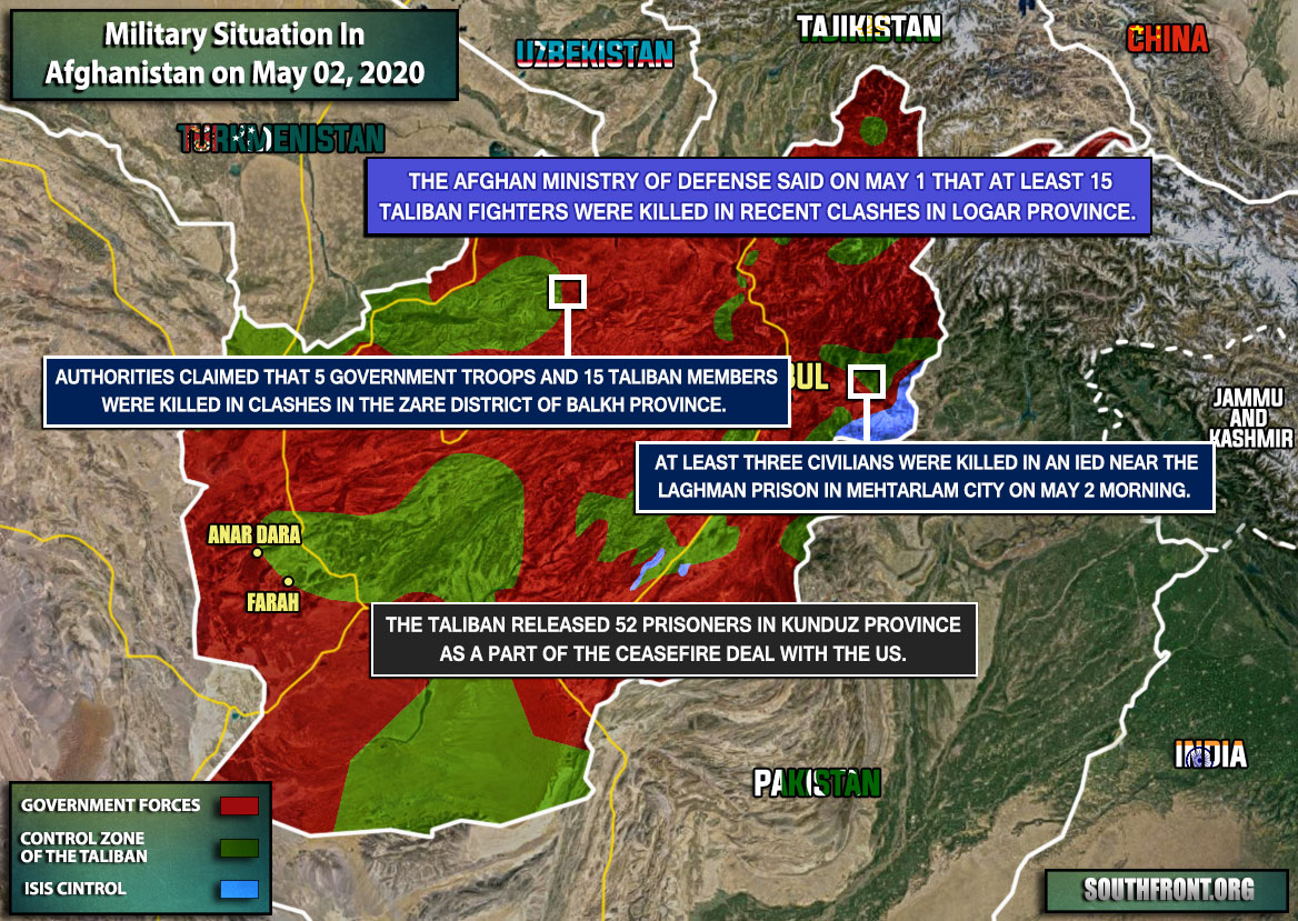 Military Situation In Afghanistan On May 2, 2020 (Map Update)