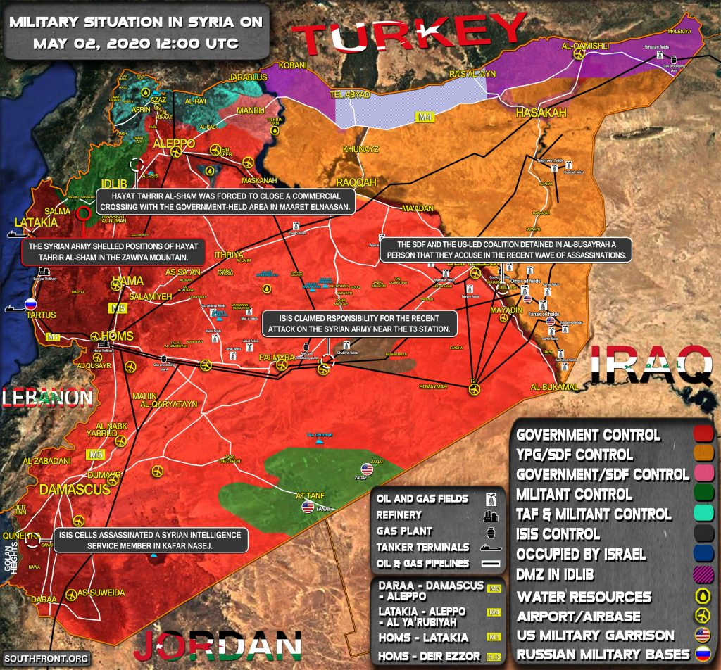 Military Situation In Syria On May 2, 2020 (Map Update)