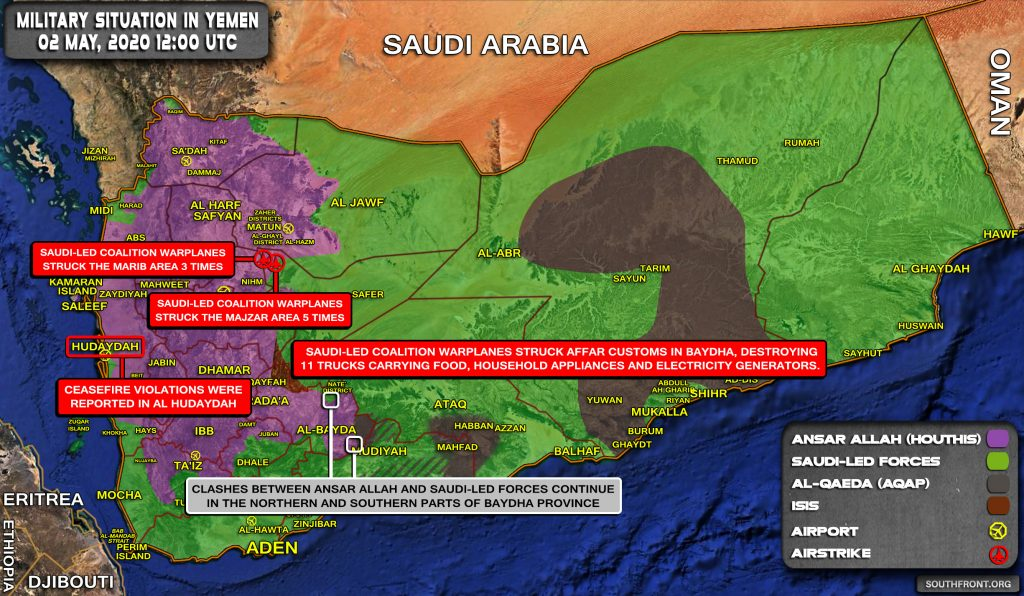 Military Situation In Yemen On May 2, 2020 (Map Update)