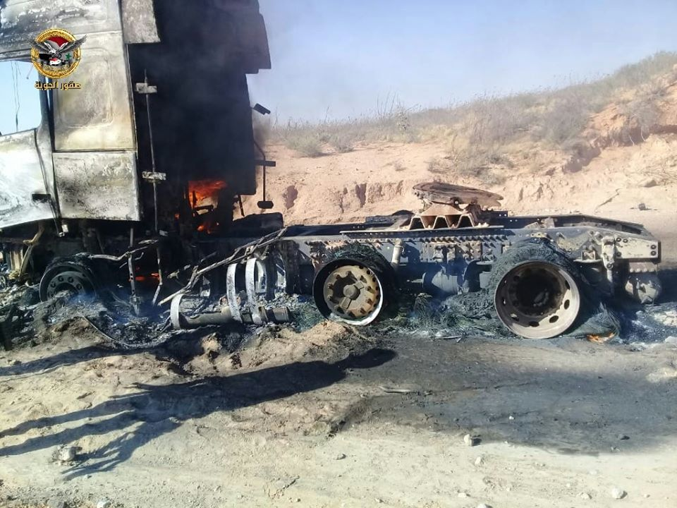 In Photos: ISIS Looted And Burned Oil Truck Near Syria's Shula