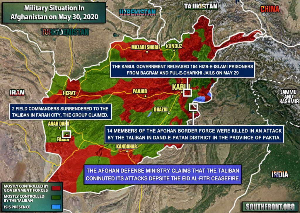 Military Situation In Afghanistan On May 30, 2020 (Map Update)