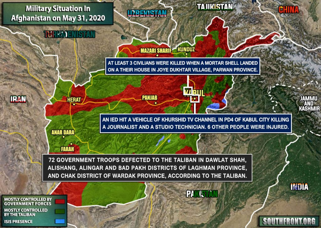 Military Situation In Afghanistan On May 31, 2020 (Map Update)