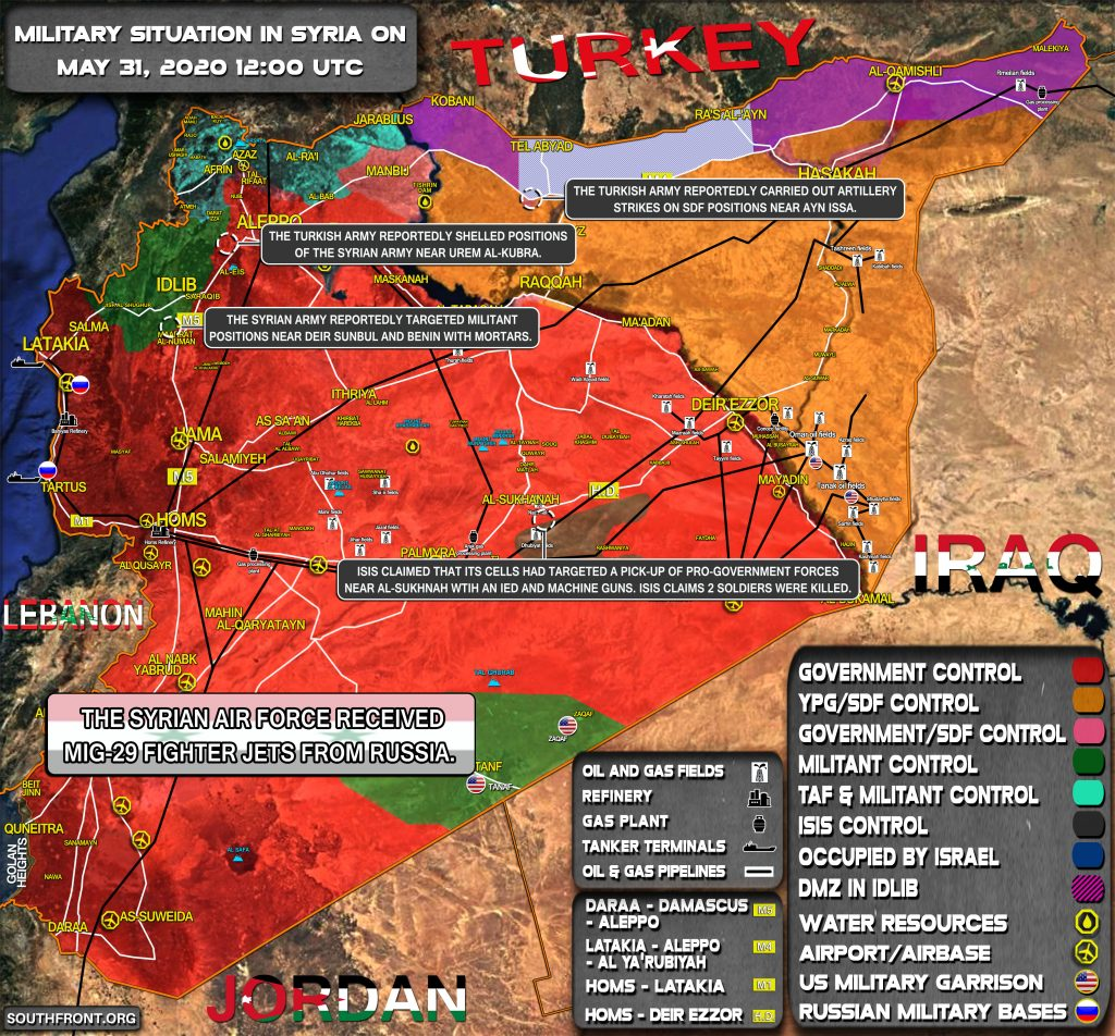 Military Situation In Syria On May 31, 2020 (Map Update)