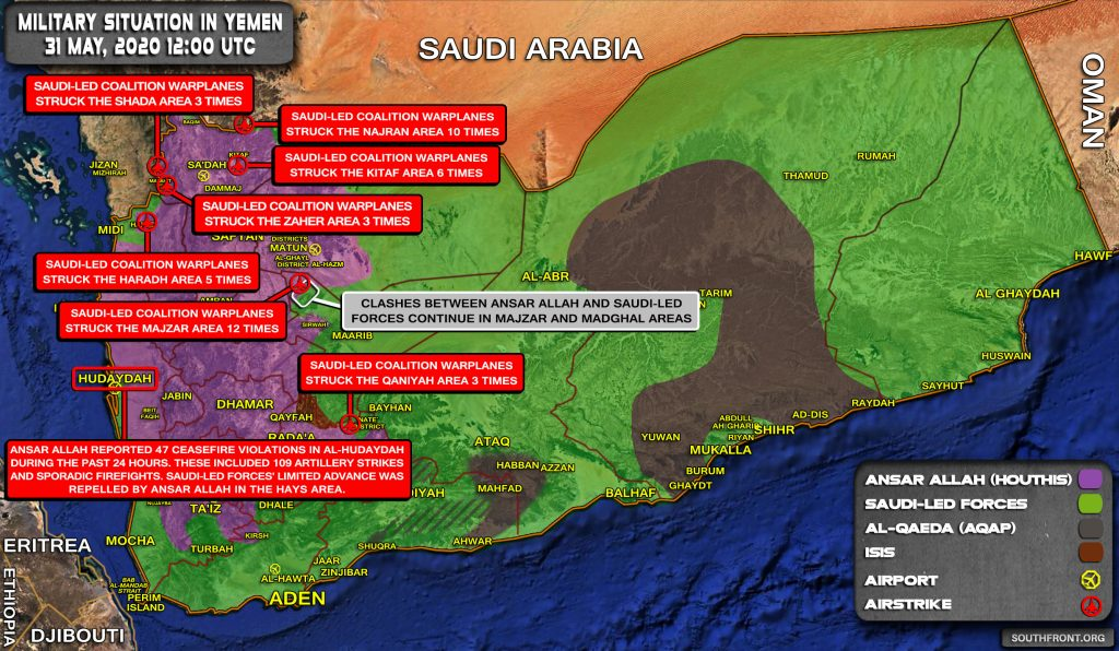 Military Situation In Yemen On May 31, 2020 (Map Update)
