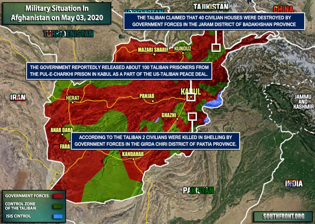 Military Situation In Afghanistan On May 3, 2020 (Map Update)