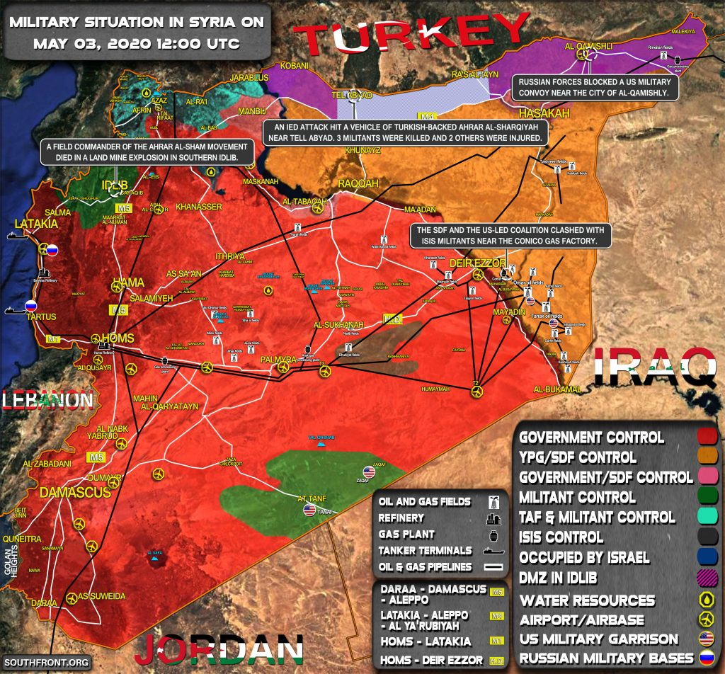 Military Situation In Syria On May 3, 2020 (Map Update)