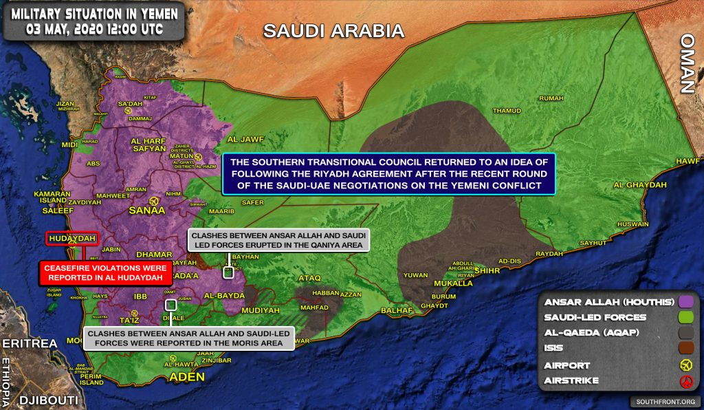 Military Situation In Yemen On May 3, 2020 (Map Update)