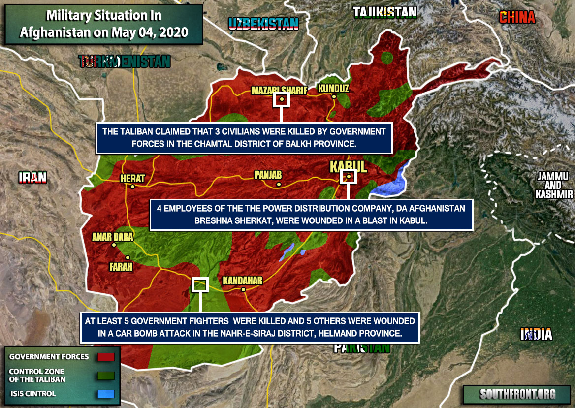 Military Situation In Afghanistan On May 4, 2020 (Map Update)