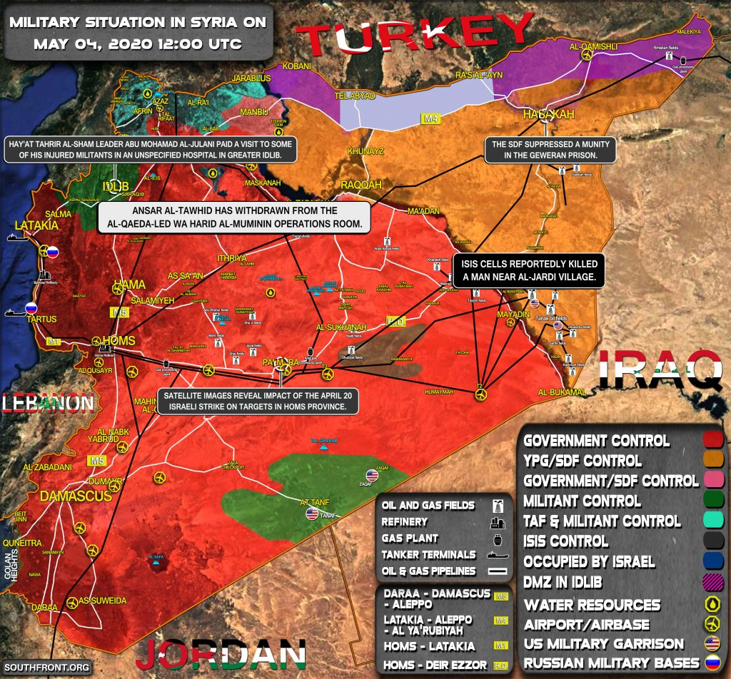 Military Situation In Syria On May 4, 2020 (Map Update)