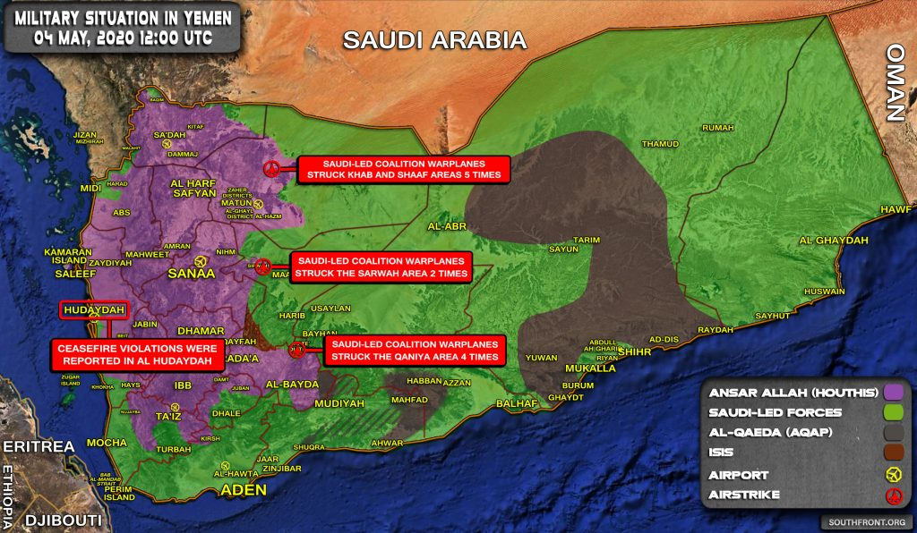 Military Situation In Yemen On May 4, 2020 (Map Update)