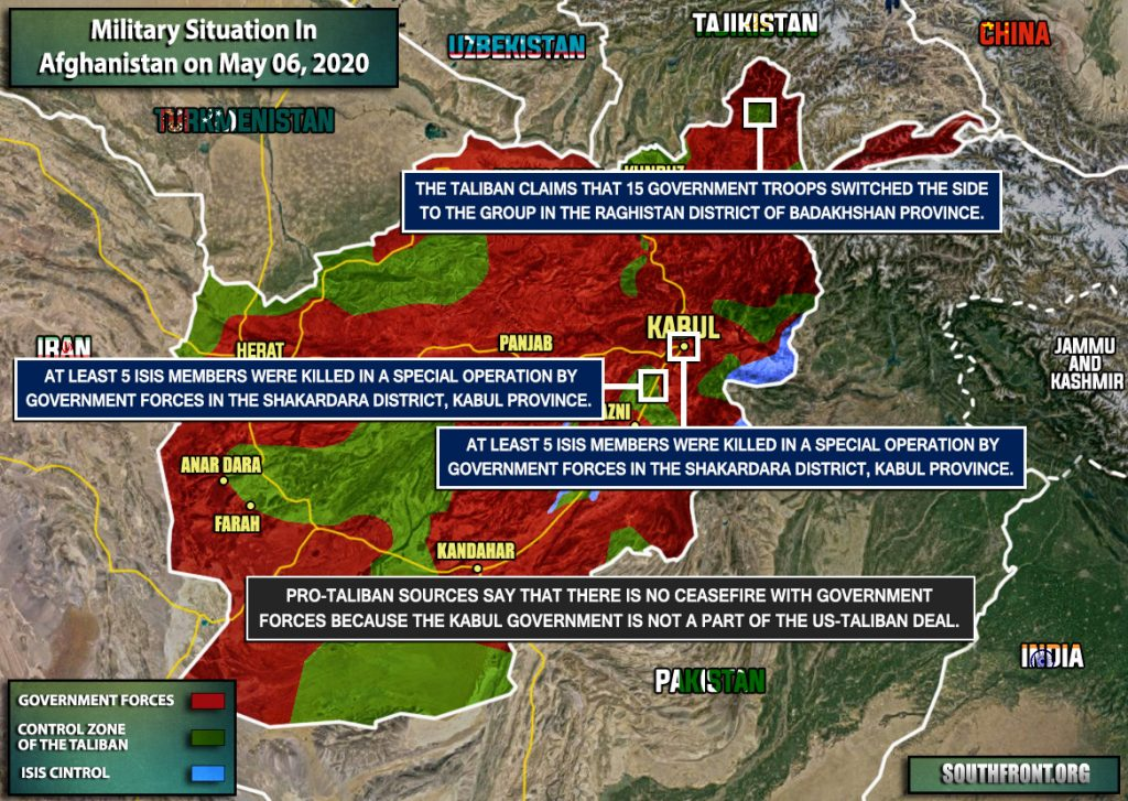 Military Situation In Afghanistan On May 6, 2020 (Map Update)