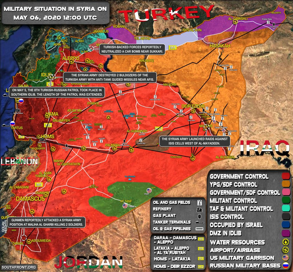 Military Situation In Syria On May 6, 2020 (Map Update)