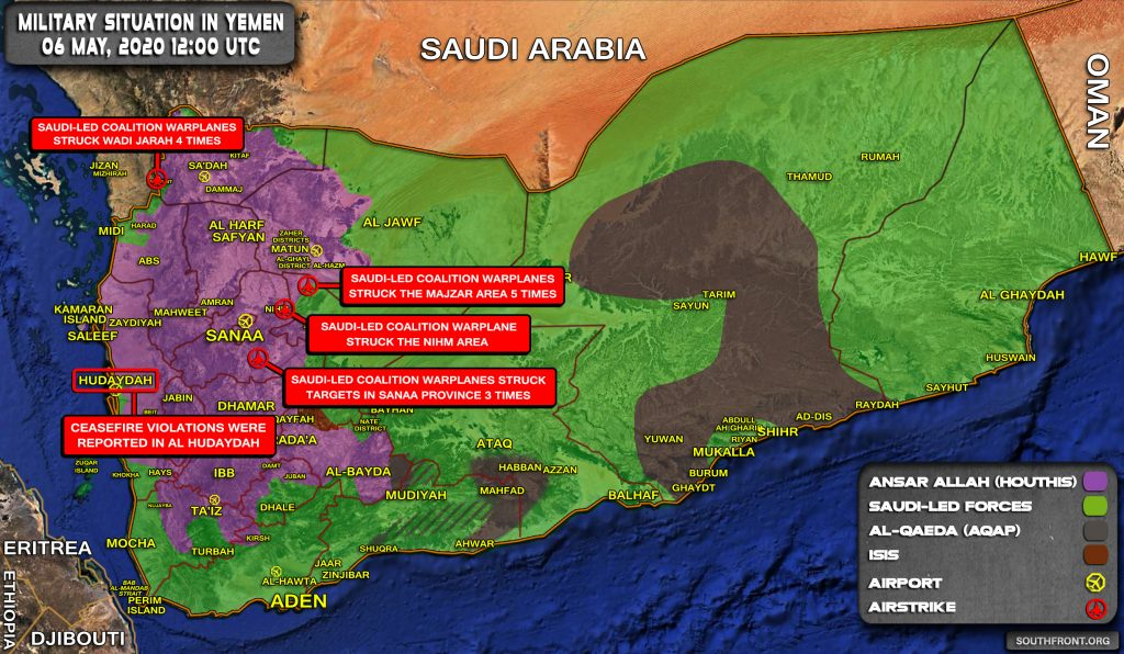 Military Situation In Yemen On May 6, 2020 (Map Update)