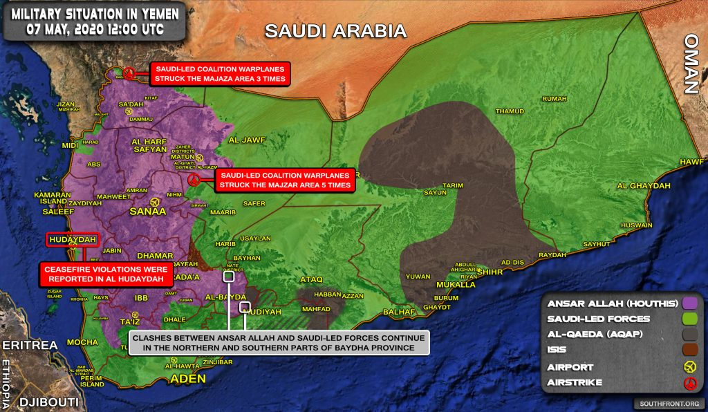 Military Situation In Yemen On May 7, 2020 (Map Update)