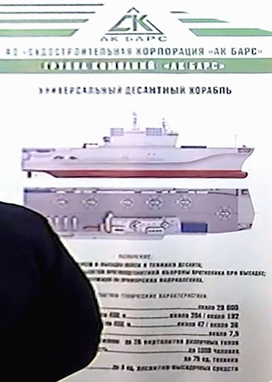 Russia Signs Contract For Construction Of Two Universal Landing Ships In Kerch's Zaliv Shipyard