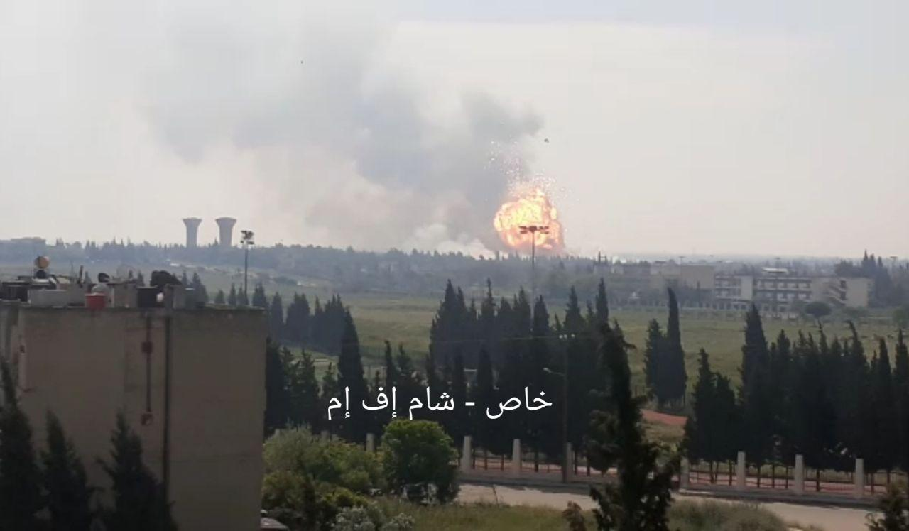 Large Explosion Rocks Syrian Army Base In Homs City Outskirt (Videos)