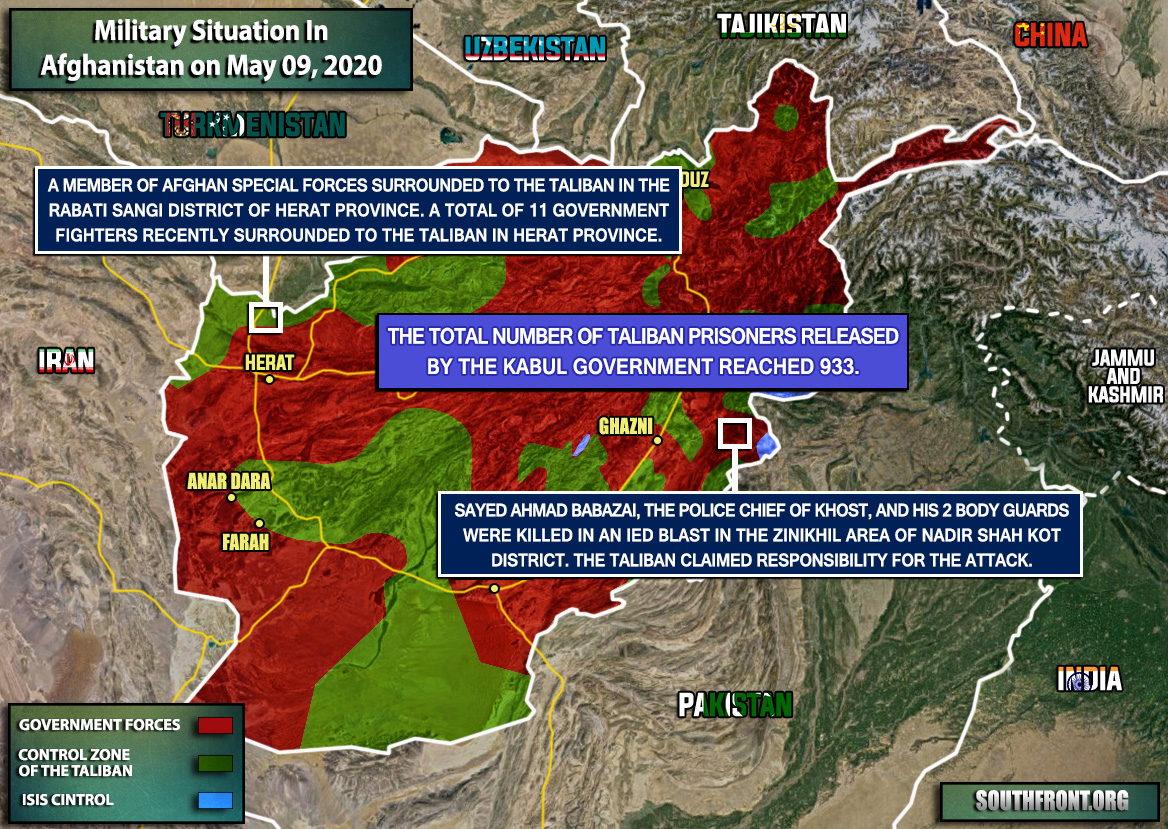 Military Situation In Afghanistan On May 9, 2020 (Map Update)