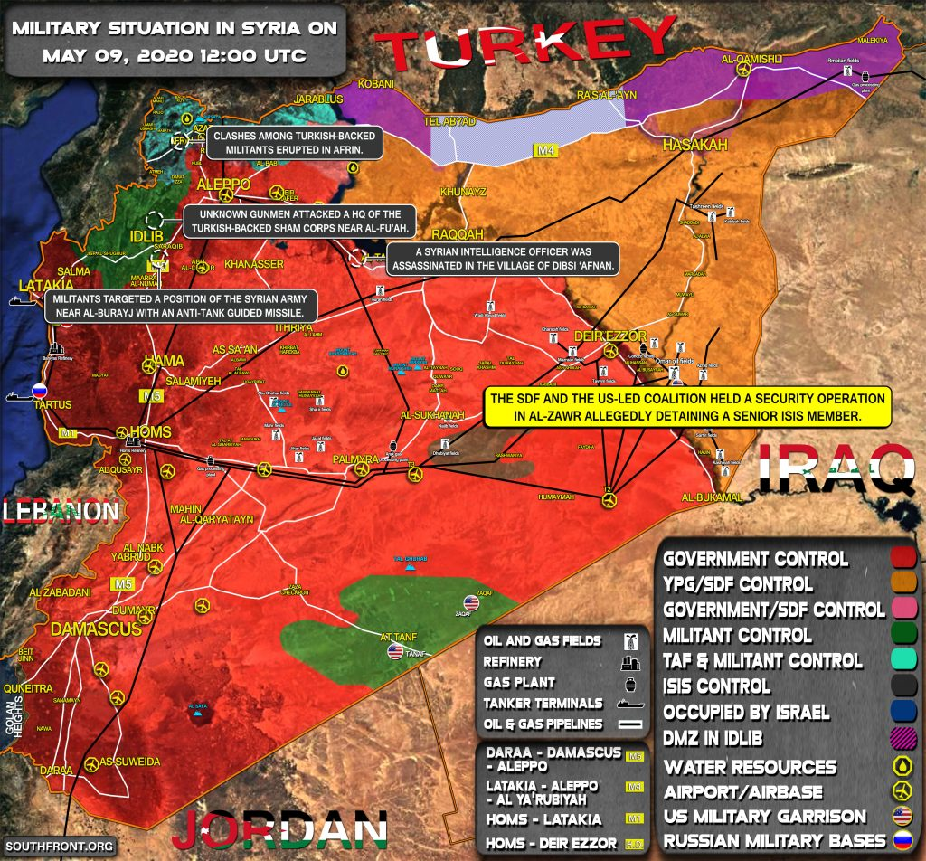 Military Situation In Syria On May 9, 2020 (Map Update)