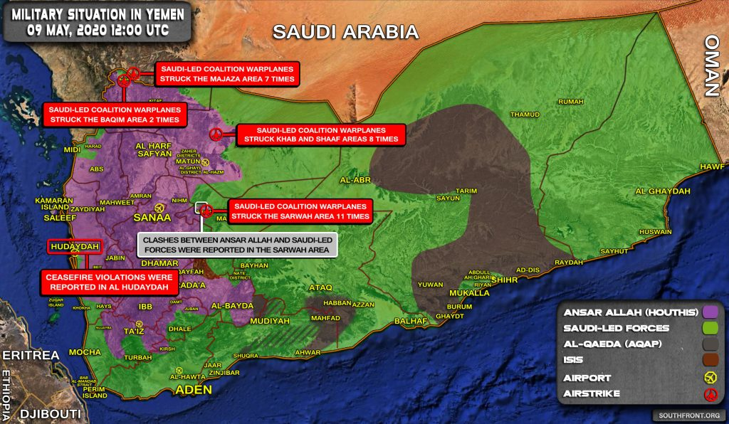 Military Situation In Yemen On May 9, 2020 (Map Update)
