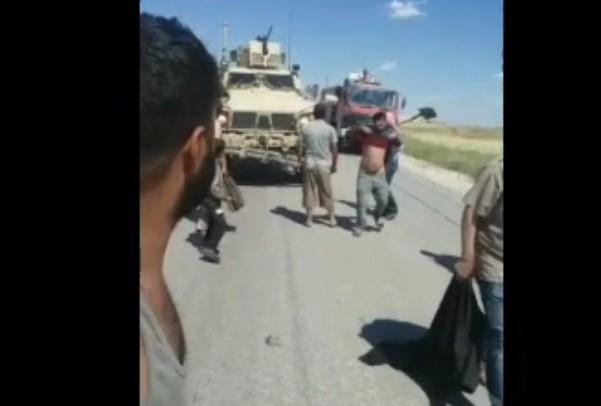 In Videos: Syrians Block US Military Column In Al-Hasakah Province