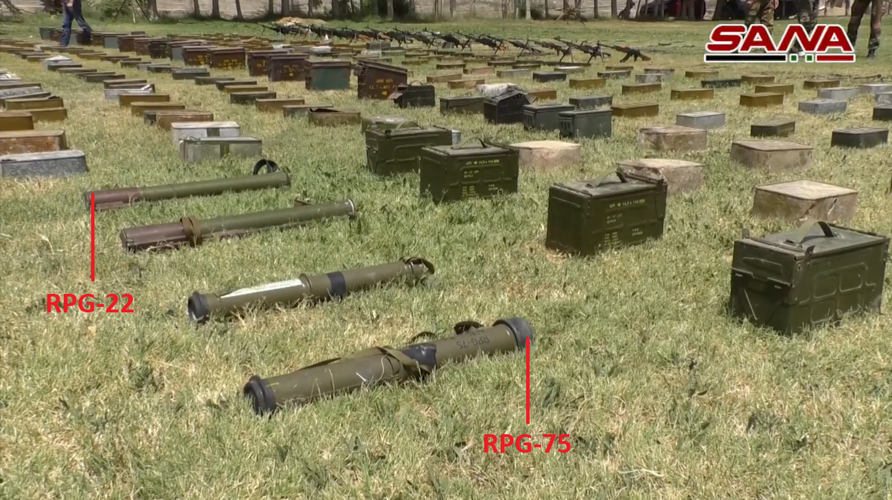 Syrian Army Uncovers Dozens Of Guided Missiles, Landmines In Southern Syria (Video, Photos)
