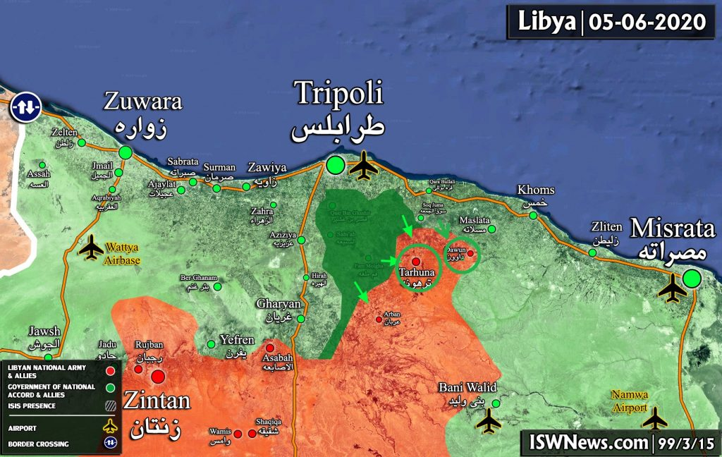 Tarhuna Falls Into Hands Of Turkish Proxies As Libyan National Army Is On Retreat (Map, Videos)