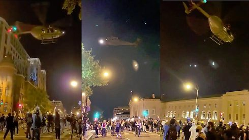 Military Pilot Grounded After Low-Flying Helicopter Maneuvers Over D.C. Protests