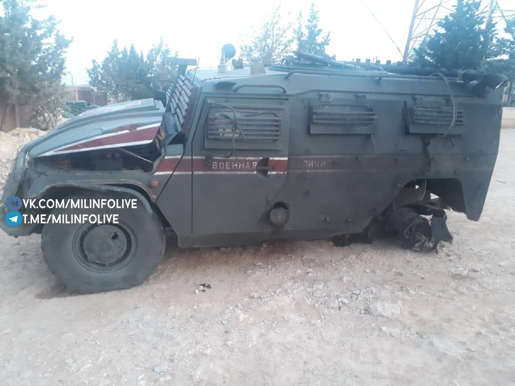 In Photos: Russian Tigr Infantry Mobility Vehicle After IED Explosion In Kobani