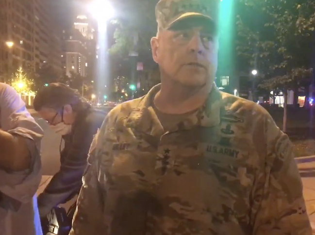 "2020: The Year The Chairman Of The Joint Chiefs Went To ""Check On The Troops"" In D.C. Streets"