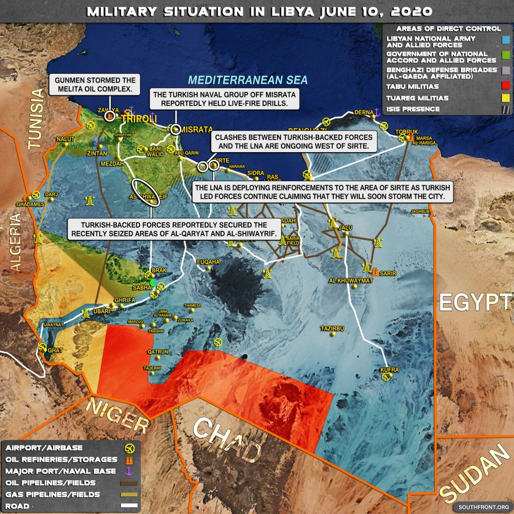 Military Situation In Libya On June 10, 2020 (Map Update)