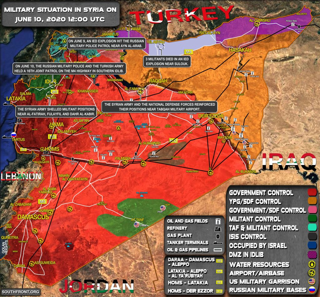 Military Situation In Syria On June 10, 2020 (Map Update)
