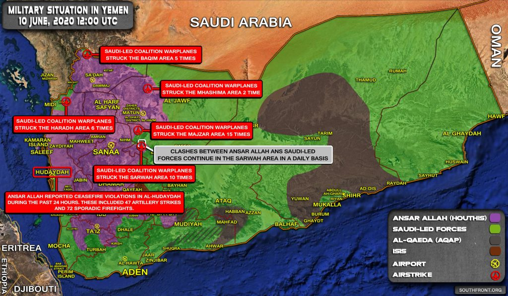 Military Situation In Yemen On June 10, 2020 (Map Update)