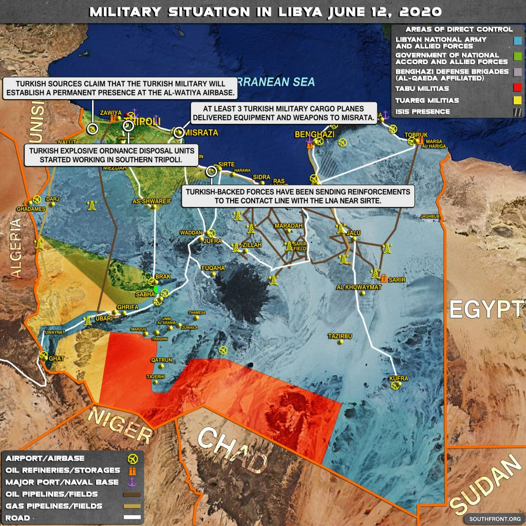 Military Situation In Libya On June 12, 2020 (Map Update)