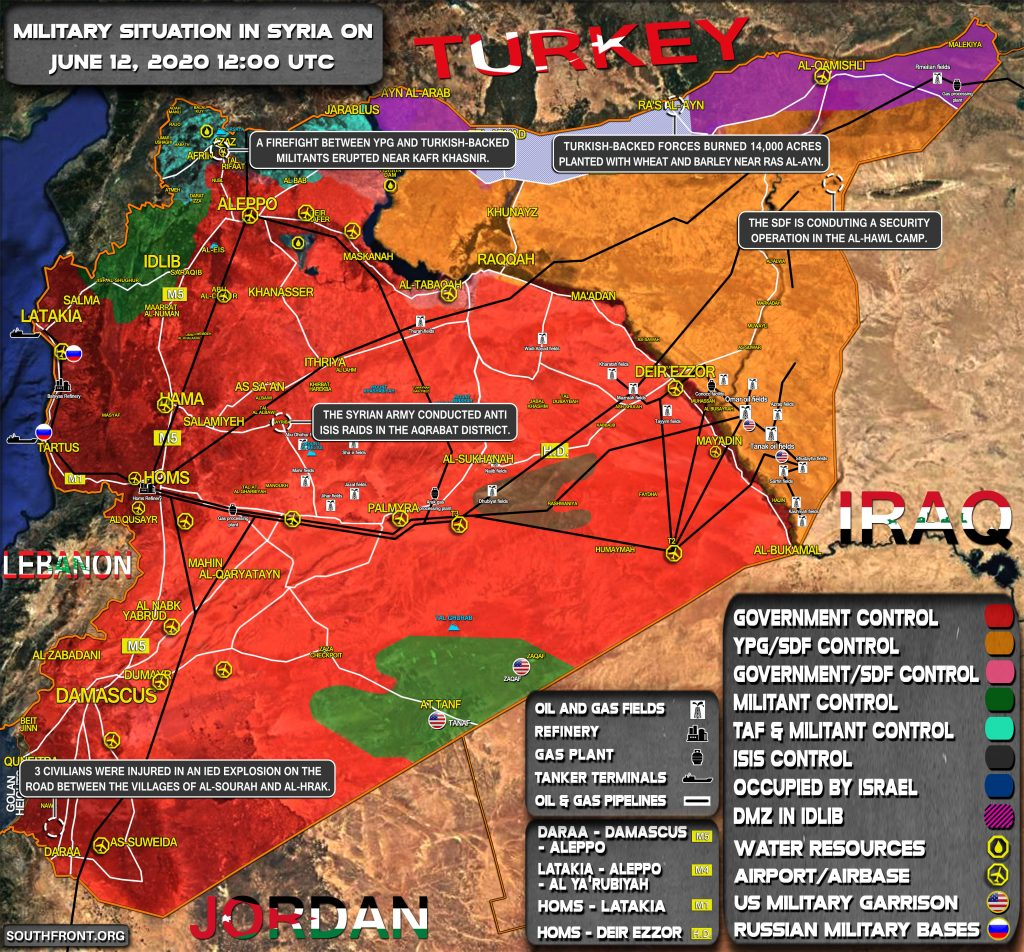 Military Situation In Syria On June 12, 2020 (Map Update)