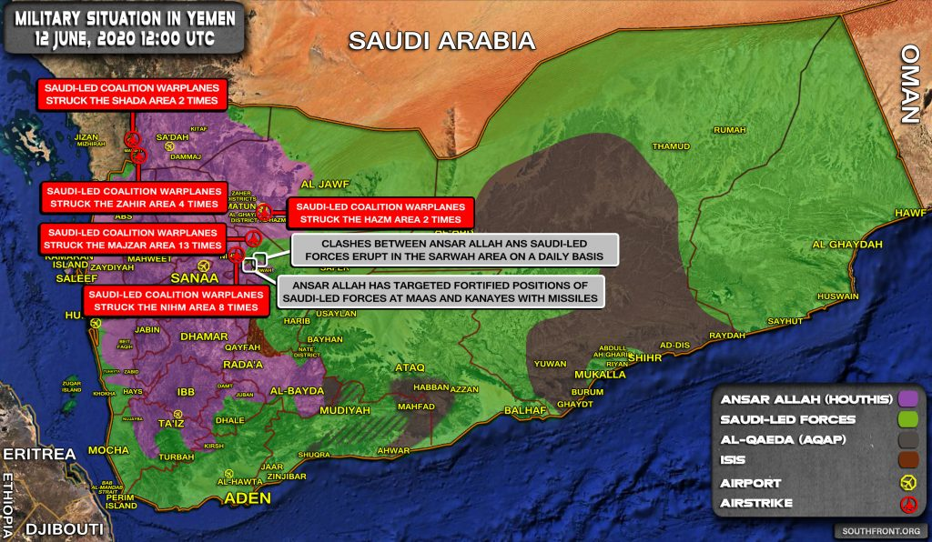 Military Situation In Yemen On June 12, 2020 (Map Update)