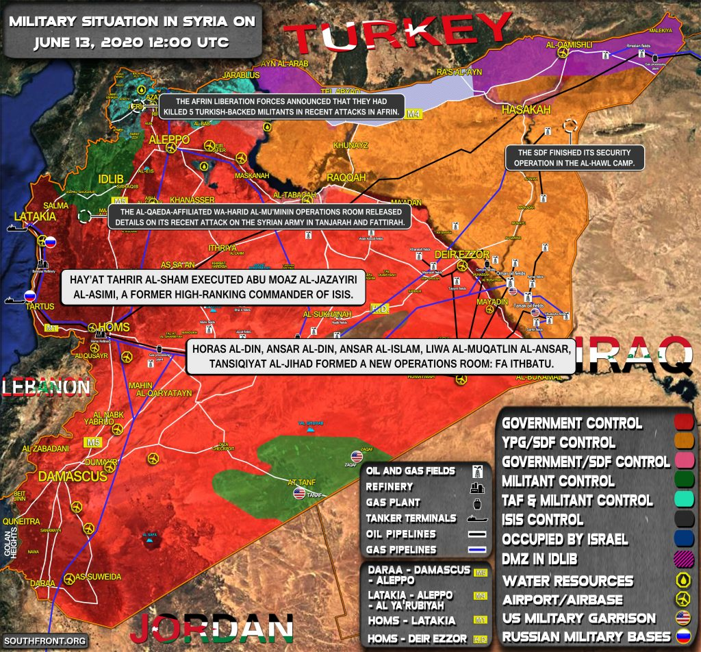 Military Situation In Syria On June 13, 2020 (Map Update)