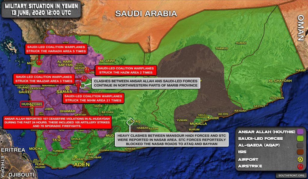 Military Situation In Yemen On June 13, 2020 (Map Update)