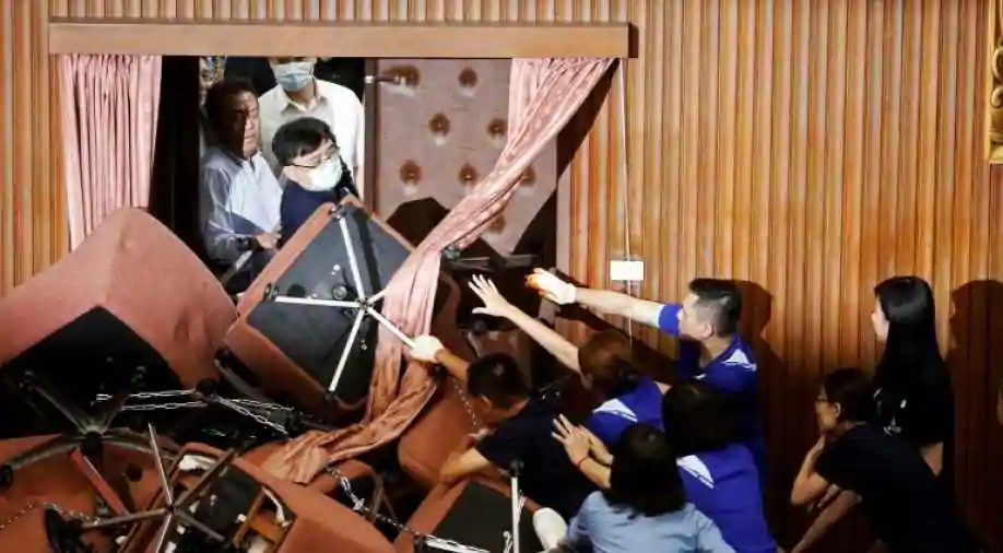 Pro-Beijing Opposition Occupied Itself In Taiwan's Parliament, Clashed With Ruling Party