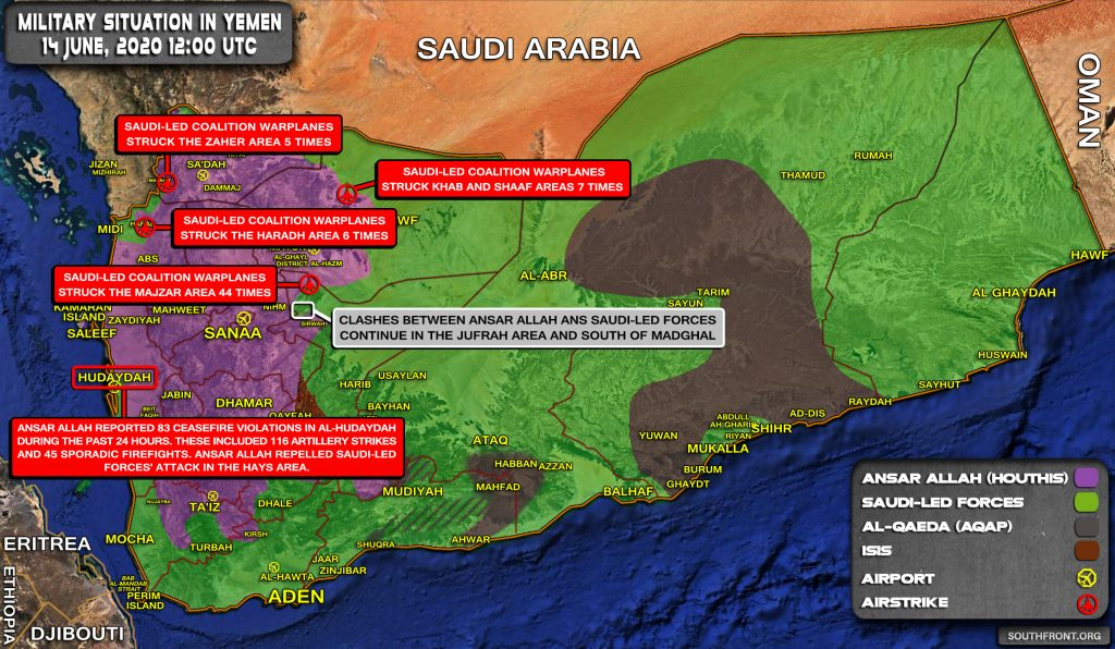Military Situation In Yemen On June 14, 2020 (Map Update)