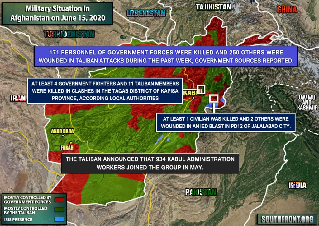 Military Situation In Afghanistan On June 15, 2020 (Map Update)