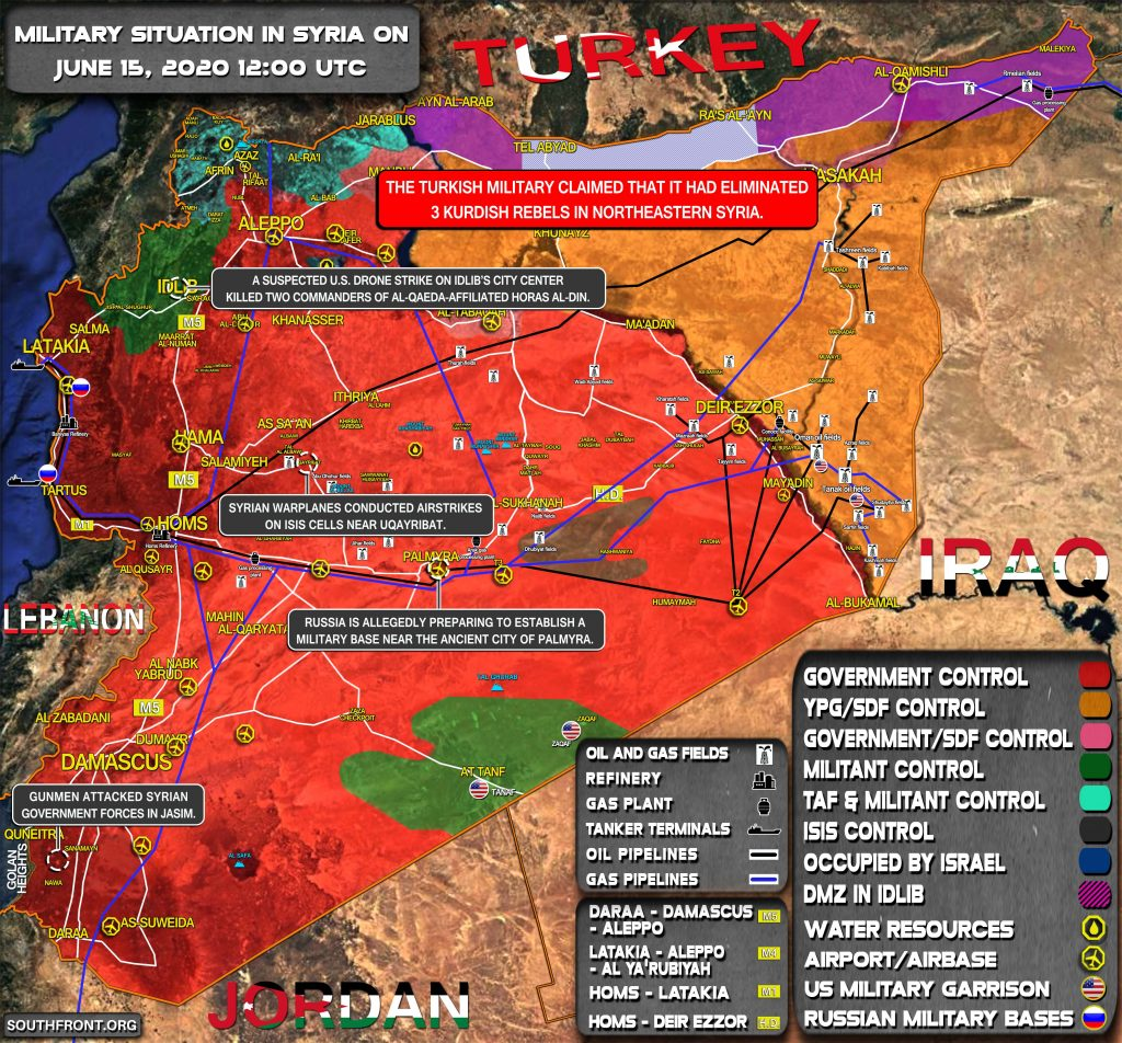 Military Situation In Syria On June 15, 2020 (Map Update)