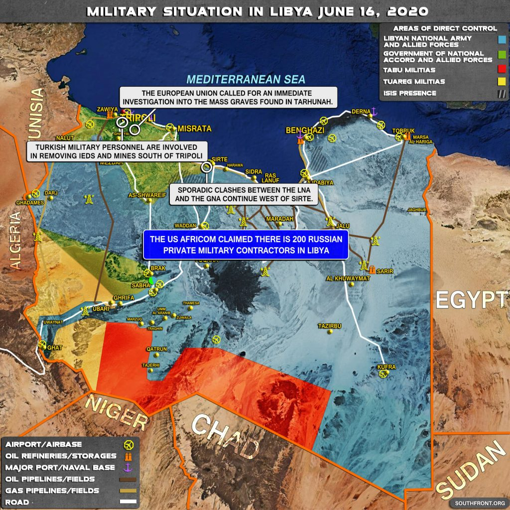 Military Situation In Libya On June 16, 2020 (Map Update)