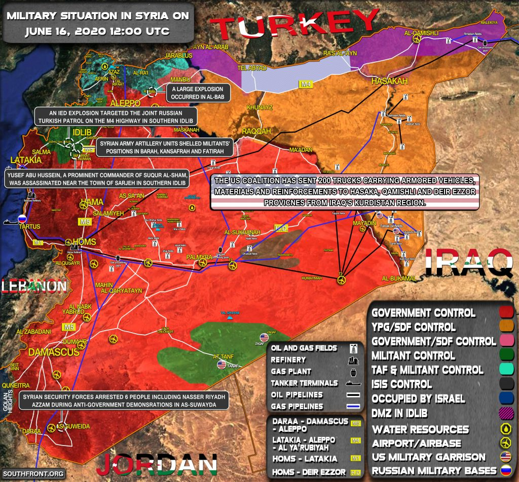 Military Situation In Syria On June 16, 2020 (Map Update)