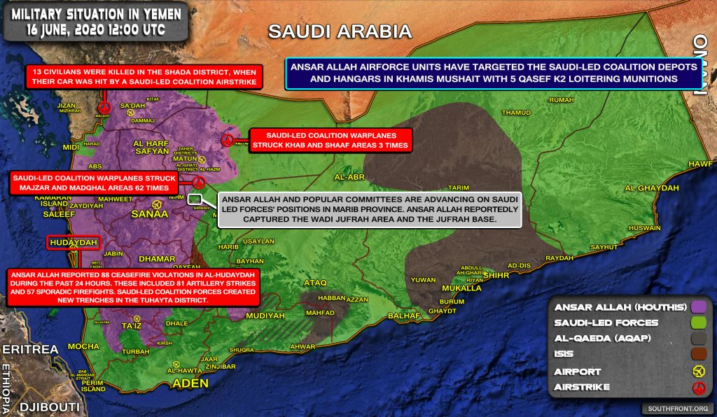 Military Situation In Yemen On June 16, 2020 (Map Update)
