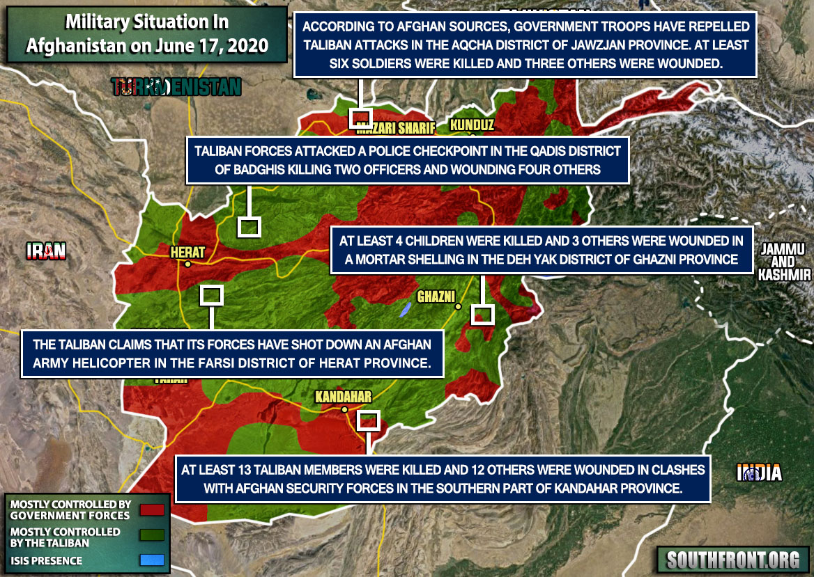 Military Situation In Afghanistan On June 17, 2020 (Map Update)