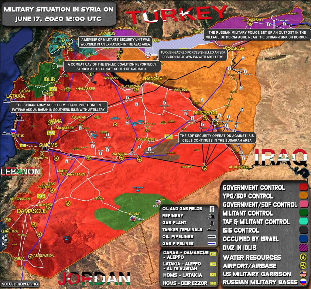 Military Situation In Syria On June 17, 2020 (Map Update)