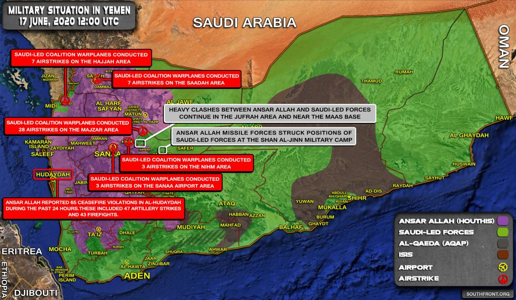 Military Situation In Yemen On June 17, 2020 (Map Update)