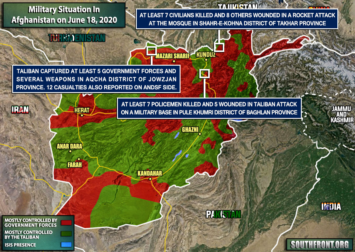 Military Situation In Afghanistan On June 18, 2020 (Map Update)
